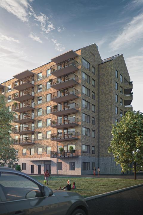 Mimer och Aros Bygg bygger 44 nya lägenheter på Vallby i Västerås