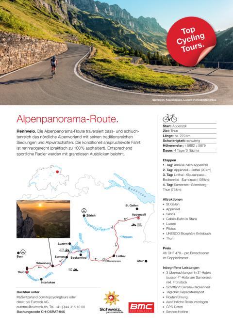 Fact Sheet Top Cycling Tour Alpenpanorama-Route