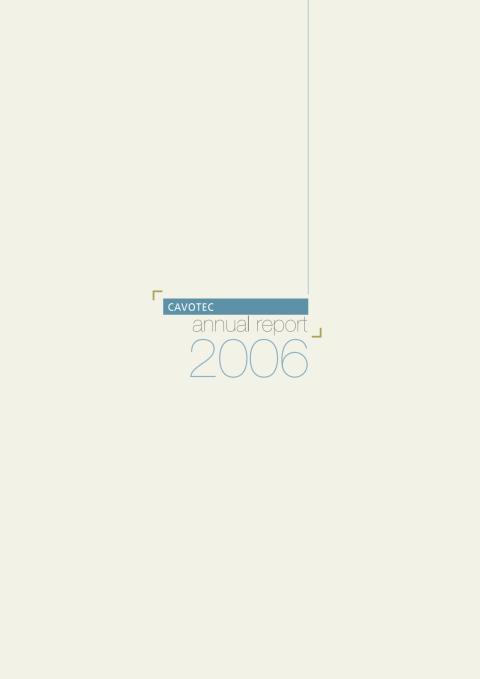 Cavotec MSL - Annual Report 2006