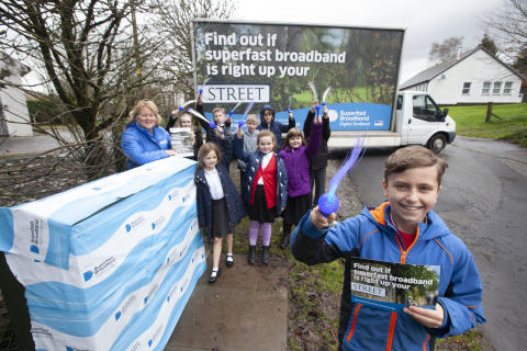 Digital Scotland Superfast Broadband celebrates latest fibre broadband availability across South Ayrshire