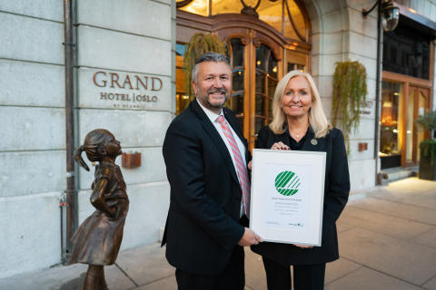Grand Hotel Oslo by Scandic mottar Svanemerket