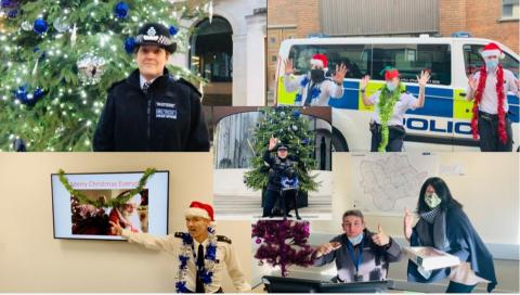 Officers bring a smile to children's faces at the end of the school term