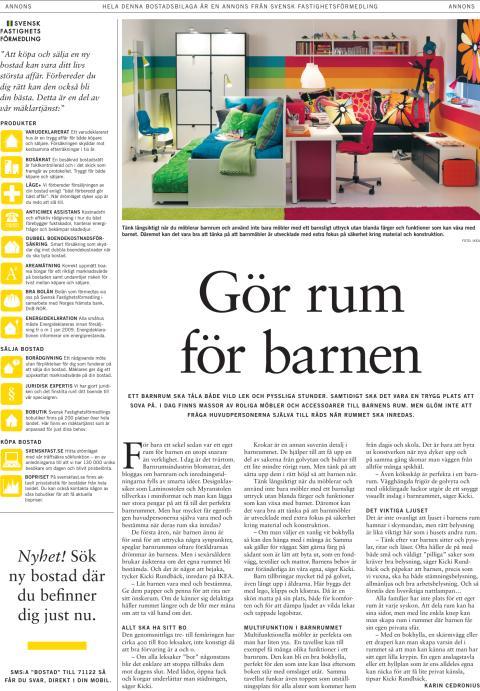 Inspiration: Barnrum, första sidan