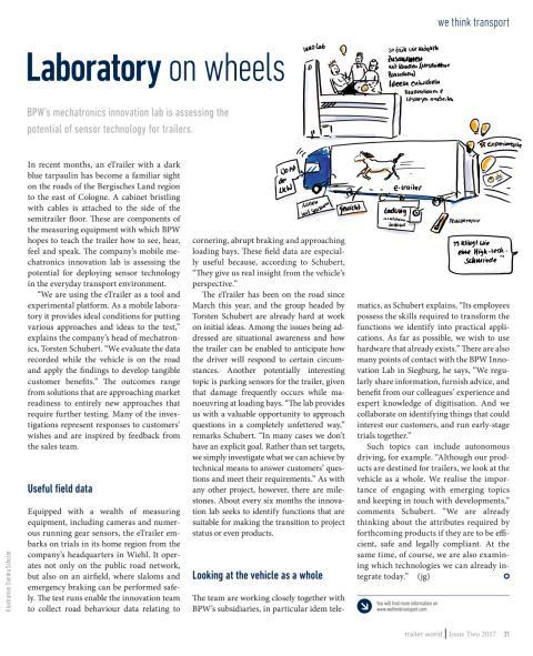 Laboratory on wheels