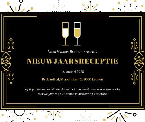 Uitnodiging voor de Voka Vlaams-Brabant nieuwjaarsreceptie op 16/01