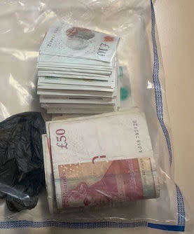 Cash seized during raids - Op Linstock