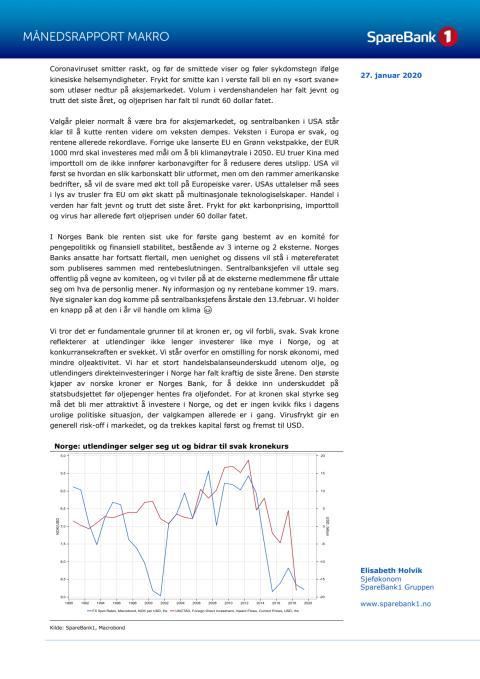 Makrorapport januar 2020: Virusfrykt sprer seg