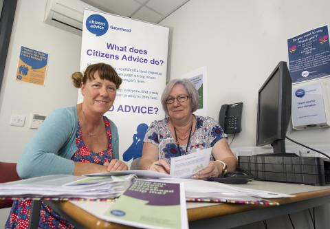 Citizens Advice support service helps to reduce stress and anxiety