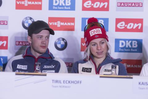 Tarjei og Tiril står over Oberhof