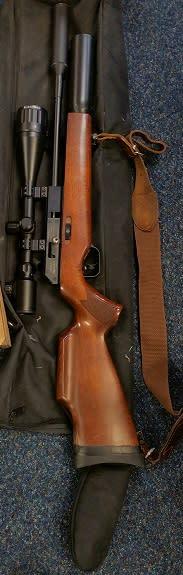 The gas powered air rifle