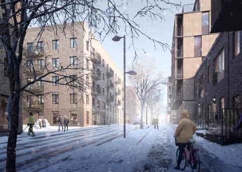 Vy över kvarteret Lillholmen. Foto: Olof Eriksson