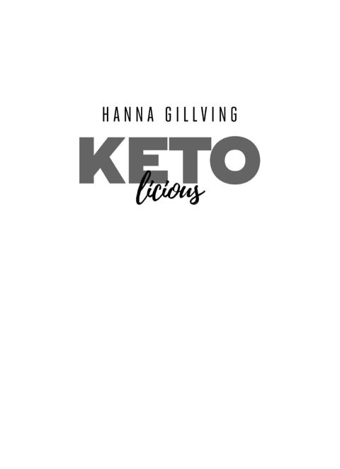 UTDRAG ur KETO-licious - innehållsförteckning och förord