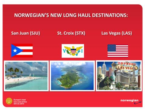 Information about Norwegian's new long haul destinations 2015