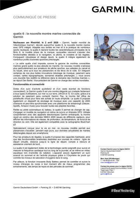 quatix 6 : la nouvelle montre marine connectée de Garmin