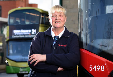 Julie Hutton, a bus driver at Go North East