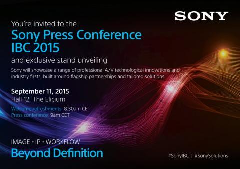 Einladung Sony Pressekonferenz IBC Amsterdam