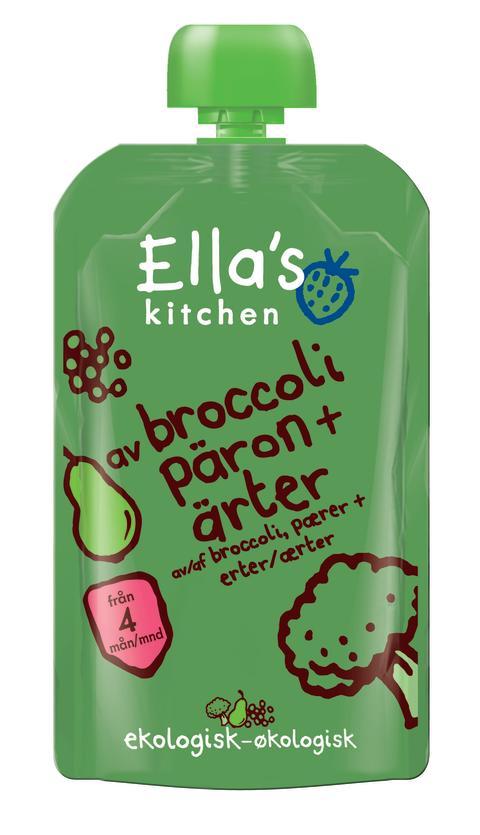 Puré Broccoli, Päron, Ärtor