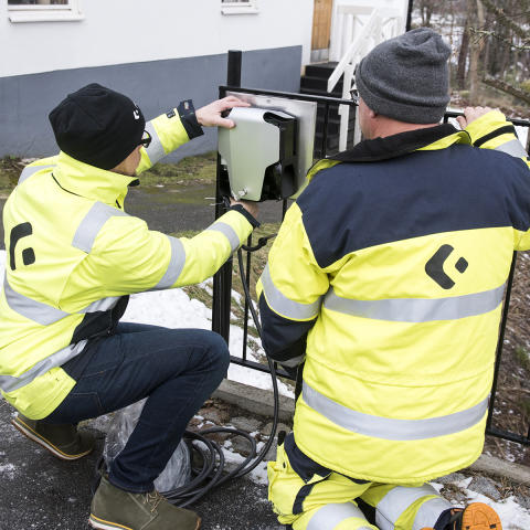 Installation av DEFA Wallbox  hos villakund