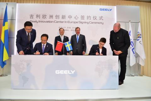 Zhejiang Geely Holding Group Affirms Commitment to Sweden with New Geely Innovation Centre in Gothenburg