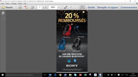 C'est le moment de penser aux cadeaux de fin d'année ! Sony propose une remise de 20% sur une sélection de casques Bluetooth