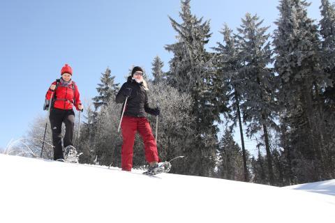 Schneeschuhtouren im Erzgebirge