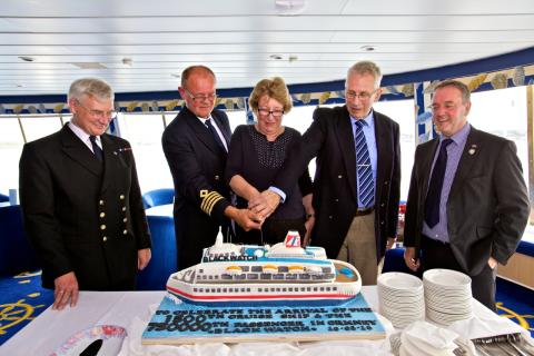 ​Kirkwall celebrates 1,500th cruise call and 750,000th cruise guest with the arrival of Fred. Olsen's 'Black Watch'
