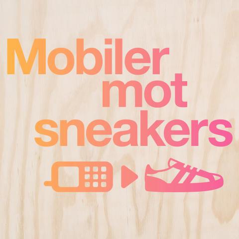 Tre återvinner mobiler mot sneakers på Skandinaviens största sneakersloppis