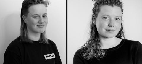 2019 års stipendiater Jokkmokk:Johanna Minde och Edith Hammar