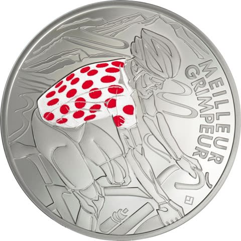 Tour de France - rødflekkete sykkeltrøye