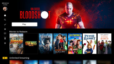 BRAVIA CORE brings the best film entertainment to Sony BRAVIA XR TVs