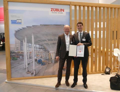 ZÜBLIN-Mitarbeiter Dr. Fernando Acosta Urrea mit Rüsch-Forschungspreis 2019 ausgezeichnet
