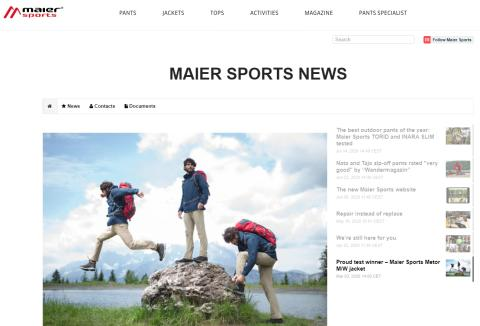 Neu: Maier Sports newsroom International
