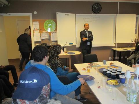 Elever från Al Azharskolan besökte Attendo Årstabergshemmet