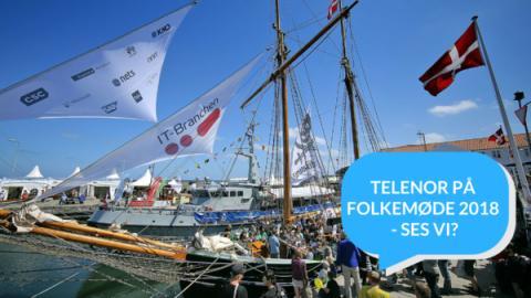 Her møder du Telenor til Folkemøde 2018
