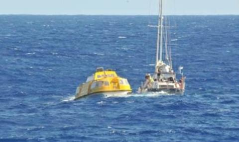 Fred. Olsen Cruise Lines' Braemar in dramatic Christmas mid-Atlantic yacht rescue