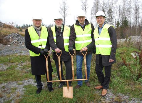 Första spadtaget genomfört vid Arlandastad för Bockasjös investering i två logistikfastigheter