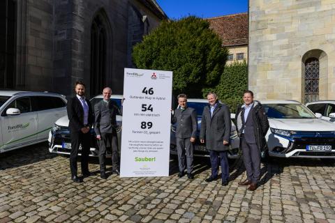 Umweltfreundlich unterwegs: ForstBW fährt Mitsubishi Outlander Plug-in Hybrid