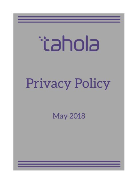 Tahola - Privacy Policy