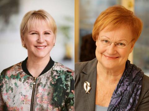 Tarja Halonen och Margot Wallström till Forum Jämställdhet