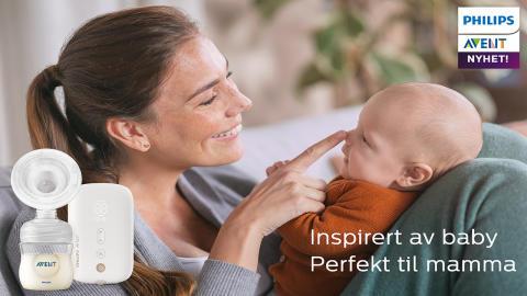 Baby vet best! - Philips Avent lanserer ny elektrisk brystpumpe inspirert av babyens naturlige sugebevegelse