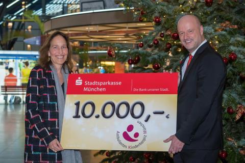 10.000 Euro Spende für die Stiftung Ambulantes Kinderhospiz München