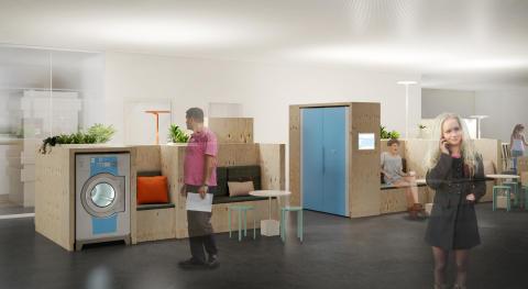 HSB Living Lab Tvättstudio huvudbild