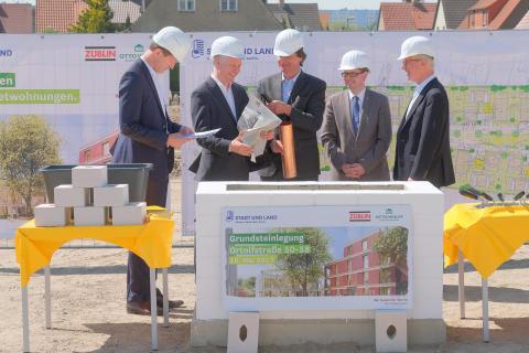 Grundsteinlegung für rund 400 Mietwohnungen der STADT UND LAND im Treptower Ortsteil Altglienicke