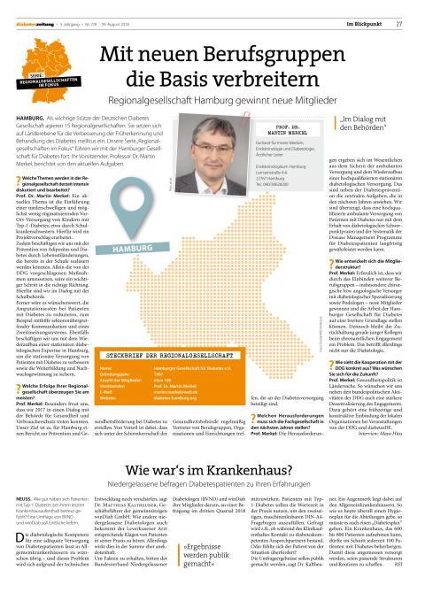 Interview Diabetes Regionalgesellschaft Hamburg - Prof. Martin Merkel