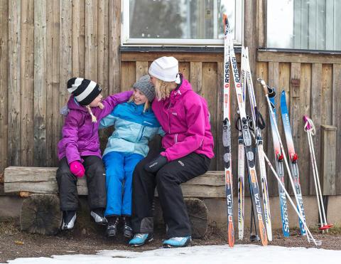 Start för nya aktivitetshelgen Family Ski Weekend på Billingen