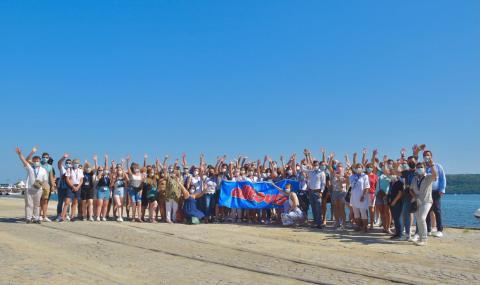 Expedienten am Strand in Varna