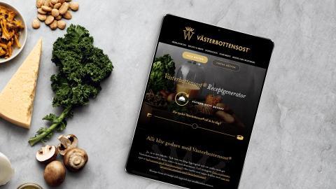 Västerbottensost® lanserar receptgenerator med ostrecept.