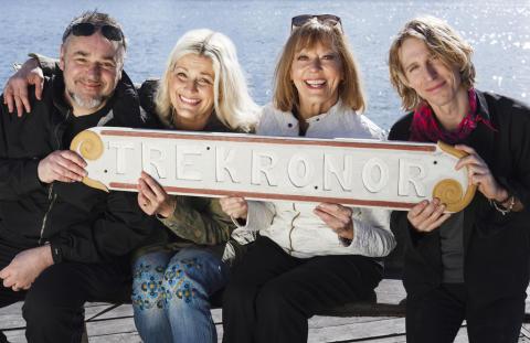 Toppartister ombord på Tre Kronor af Stockholm under Skärgårdsturnén 2018