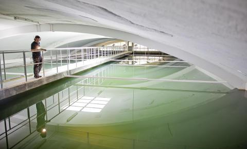 Dricksvattenrening på Alelyckans reningsverk