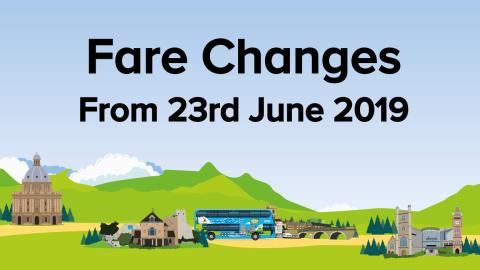 Fare Changes from 23rd June 2018